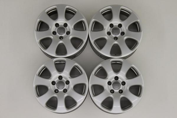 4 x Org Audi Q7 4L Alufelgen Felgen 4L0601025E 7,5 x 18 Zoll 5 x 130 ET53 rims