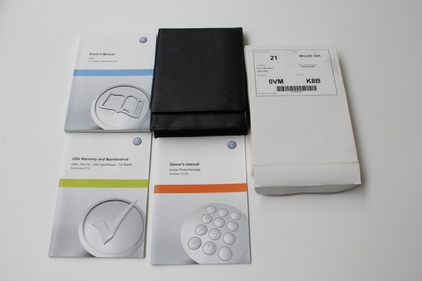 VW Jetta 6 Bordbuch Bedienungsanleitung BDA Handbuch Anleitung Englisch 2012 NEU