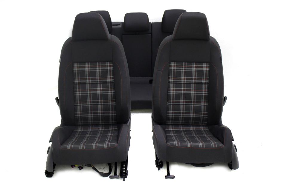 original vw golf 6 gti innenausstattung sport sitze stoff. Black Bedroom Furniture Sets. Home Design Ideas